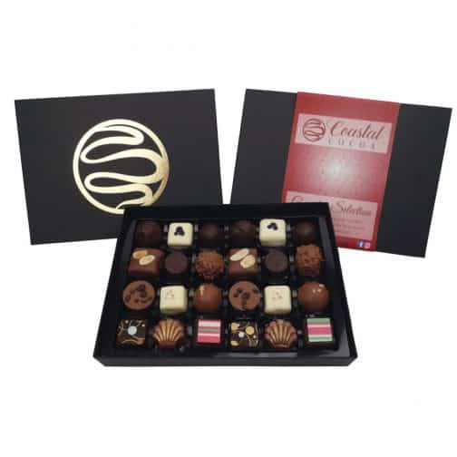 Complete 24 piece Chocolate Selection by Coastal Cocoa, Hastings, East Sussex