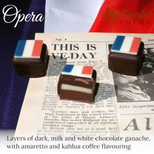 Promo Image of Coastal Cocoa Opera Cake Chocolate