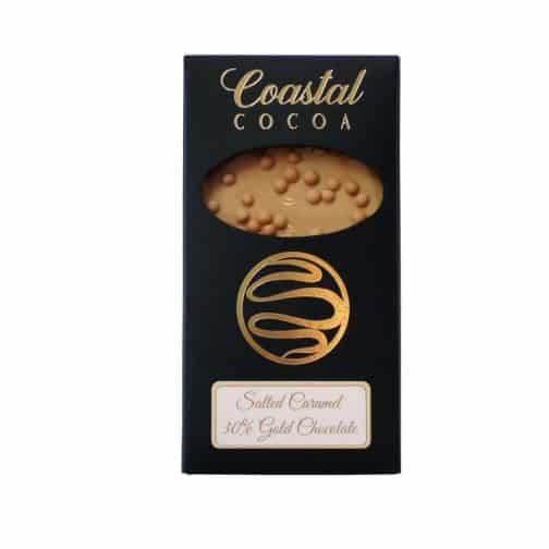 Salted Caramel Gold Chocolate Bar by Coastal Cocoa, Hastings, East Sussex