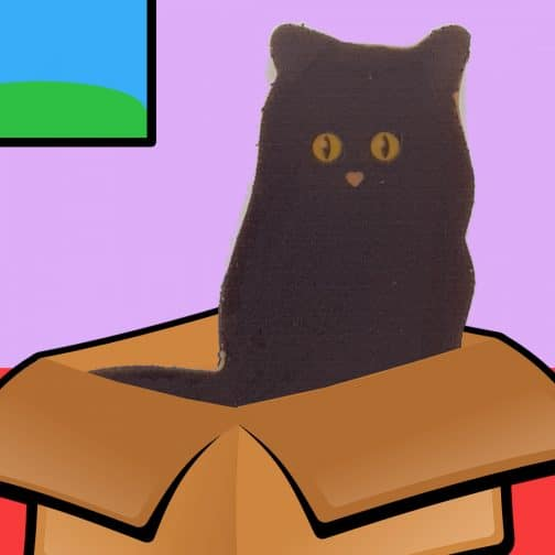 Black Caramel Cat Lollipop Chocolate by Coastal Cocoa, Hastings, East Sussex