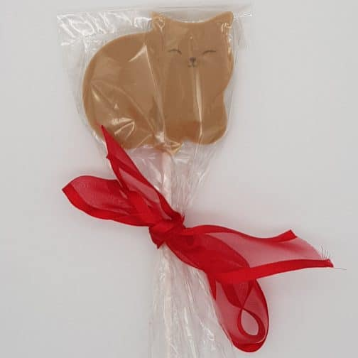 Fat Caramel Cat Lollipop Chocolate by Coastal Cocoa, Hastings, East Sussex